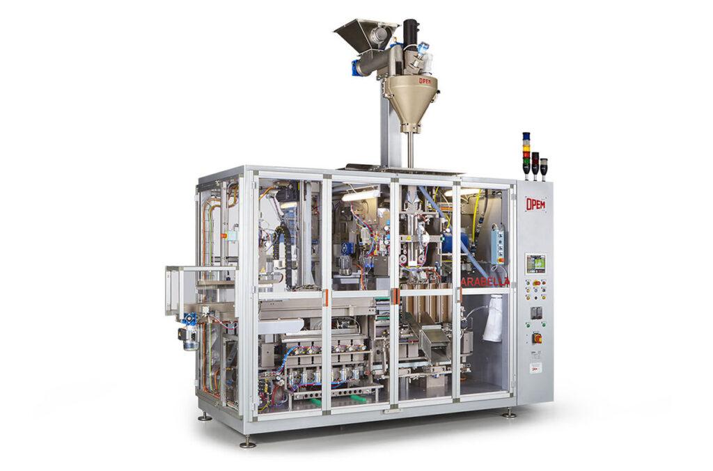 OPEM packaging machines for pods & capsules, vacuum bricks & bags